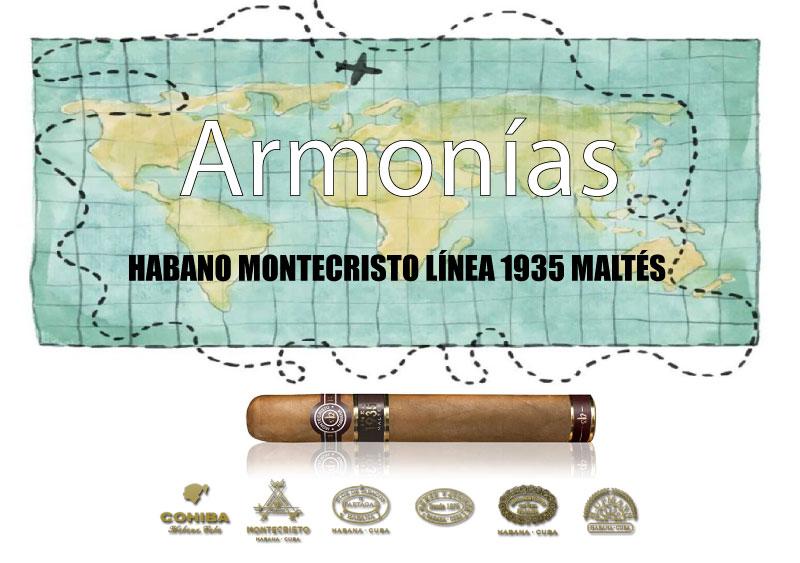 HABANO-MONTECRISTO-LÍNEA-1935-MALTÉS-CON-EL-WHISKY-SINGLE-MALT-DE-ISLAY-LAGAVULIN-16-AÑOS.