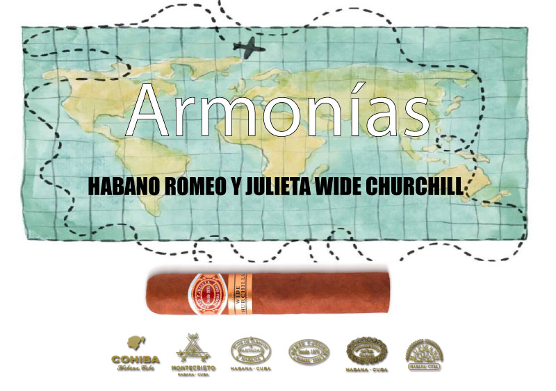 HABANO-ROMEO-Y-JULIETA-WIDE-CHURCHILL-CON-WHISKEY-BOURBON-WOODFORD-RESERVE
